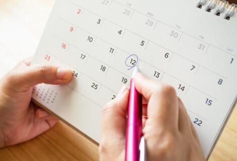 カレンダーに予定を書き込む