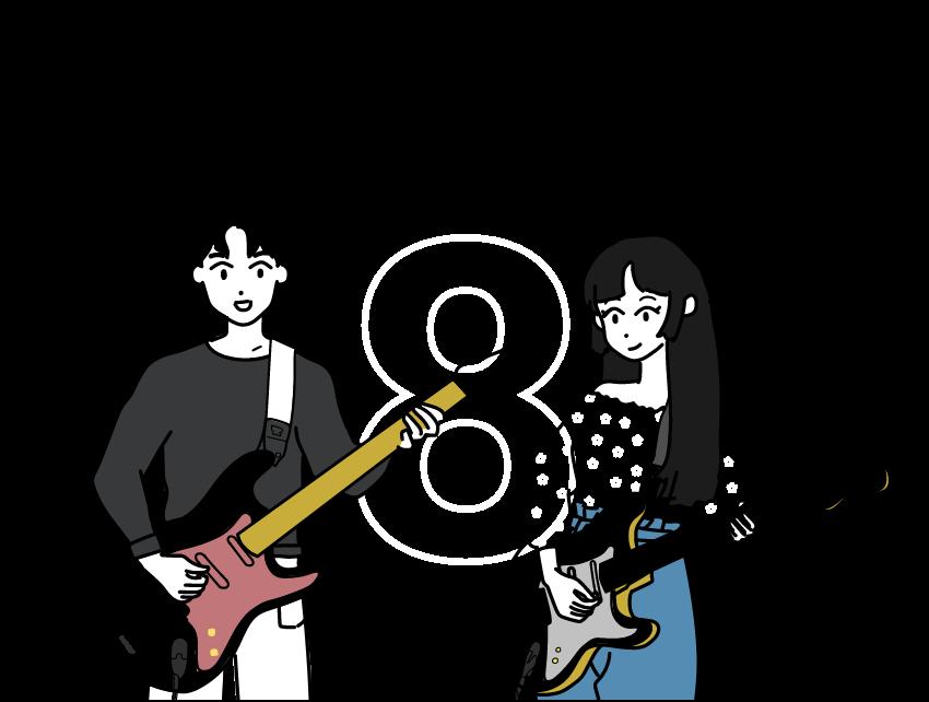 楽器を楽しそうに弾く女の子